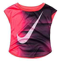 Nike® Size 12M Pixel Gradient Dry-Fit Short Sleeve T-Shirt in Pink