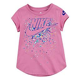Nike® Size 18M Futura Waterfall Short Sleeve Scoop Tee in Pink