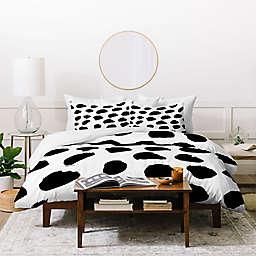 Deny Designs Kal Barteski Big Dots Duvet Cover Set in White