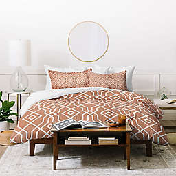 Deny Designs Baked Earth 3-Piece King Duvet Cover Set in Red