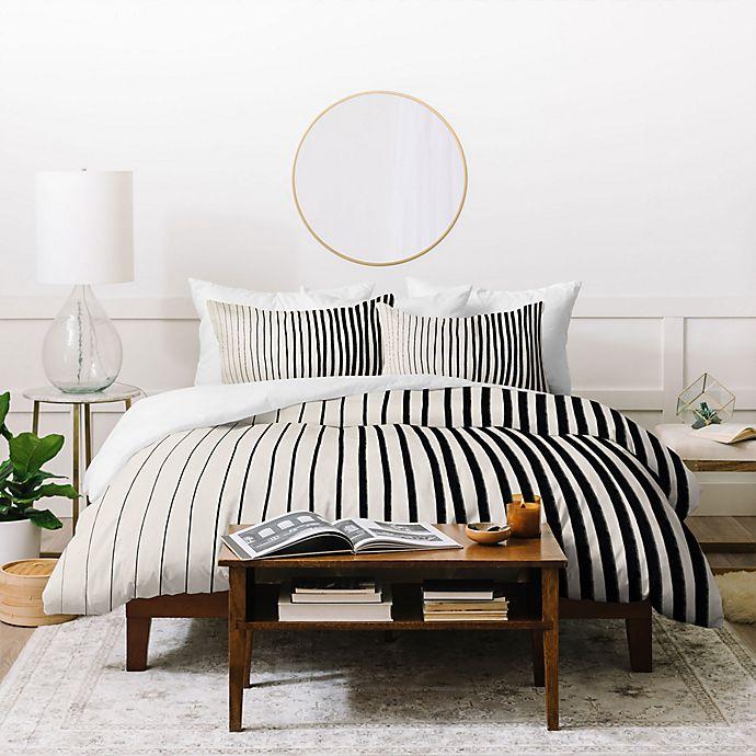 Alternate image 1 for Deny Designs Vertical Stripe 3-Piece Duvet Cover Set