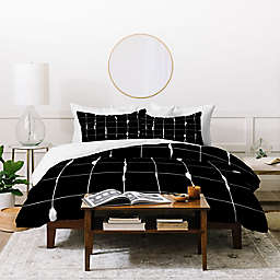 Deny Designs Between Lines King/California King 3-Piece Duvet Cover Set in Black/White