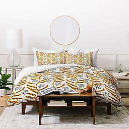 Deny Designs Yellow Vine Twin Duvet Cover Set
