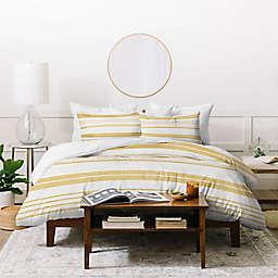 Deny Designs Golden Stripes 3-Piece Duvet Cover Set