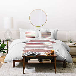 Deny Designs Dusty Stripes 3-Piece Duvet Cover Set
