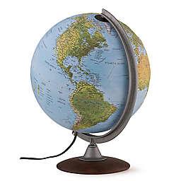Waypoint Geographic Tactile Relief Iluminated Designer Globe