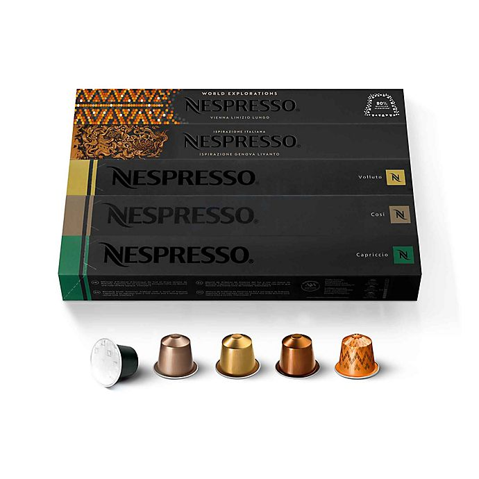 Alternate image 1 for Nespresso® OriginalLine Assorted Medium Roast Pack Coffee Capsules 50-Count