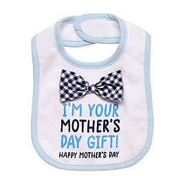 "Baby Starters® ""Mother's Day Gift"" 3D Bow Tie Bib in Blue"
