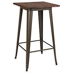 Glitzhome® Steel Square Bar Table