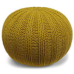 Simple Home™ Shelby Hand-Knit Cotton Pouf