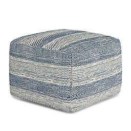 Simpli Home™ Clay Patterened Melange Cotton Pouf