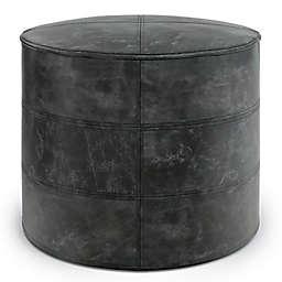 Simpli Home™ Connor Leather Pouf