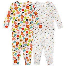 Mac & Moon 4-Piece Floral Organic Cotton Pajama Set