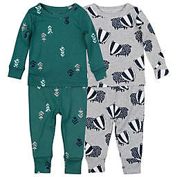 Mac & Moon Size 24M 4-Piece Badger Organic Cotton Pajama Set in Green