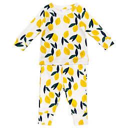 Oliver & Rain 2-Piece Lemon Organic Cotton Pajama Set