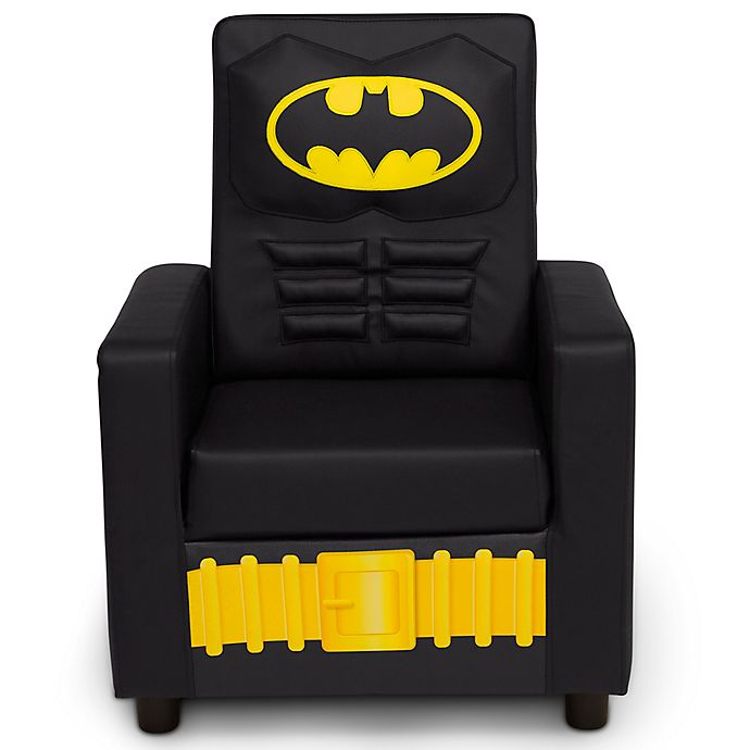 Alternate image 1 for DC Comics Batman High Back Faux Leather Upholstered Kids Chair by Delta Children