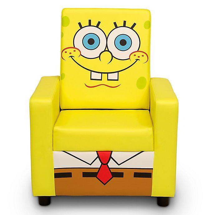 Alternate image 1 for Delta Children SpongeBob SquarePants High Back Upholstered Chair