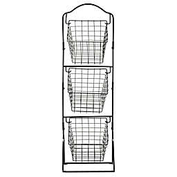 Gourmet Basics by Mikasa® Rio 3-Tier Hanging Market Basket in Black