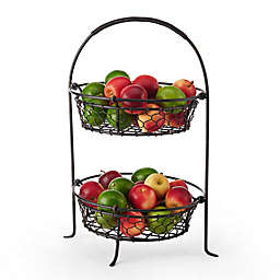 Gourmet Basics by Mikasa® 2-Tier Farmer's Market Basket in Black