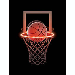 Brilliant Ideas® Basketball Hoop LED Rope Lights in Red