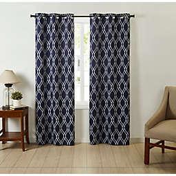 VCNY Home Trevor Ogee Grommet Window Curtain Panels  (Set of 2)