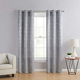 VCNY Home Rosalie 2-Pack 96-Inch Grommet Window Curtain Panels in Silver