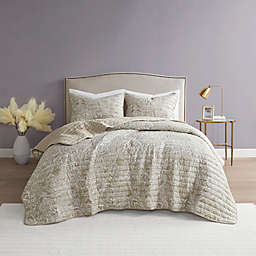 Blair 3-Piece Quilt Set in Taupe