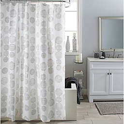 Moda at Home MYLO PEVA Shower Curtain in White
