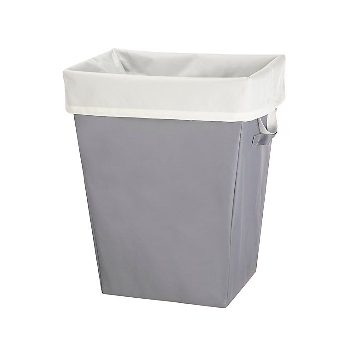 Alternate image 1 for Simply Essential™ Laundry Hamper with Removable Liner in White/Grey