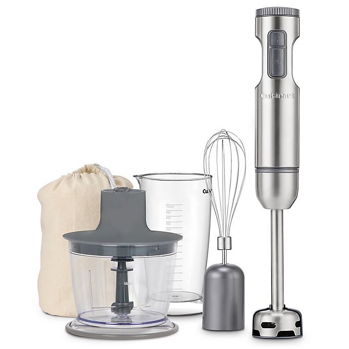 Alternate image 1 for Cuisinart® Variable Speed Smart Stick Hand Blender with Chopper in Brushed Stainles Steel