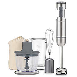 Cuisinart® Variable Speed Smart Stick Hand Blender with Chopper in Brushed Stainles Steel