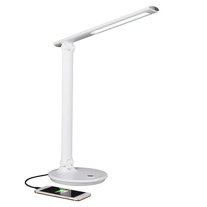 Ottlite Emerge Led Desk Lamp With Usb Port In White Bed Bath Beyond