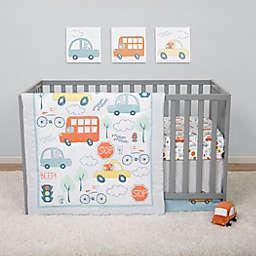 Sammy & Lou Beep Beep Transportation 4-Piece Crib Bedding Set in Orange