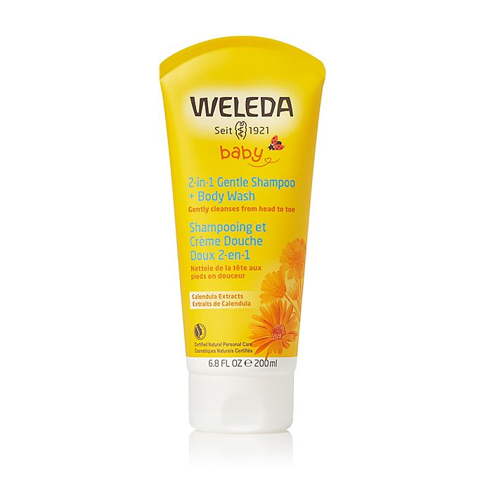 Alternate image 1 for Weleda Baby 6.8 fl. oz. 2-in-1 Gentle Shampoo & Body Wash with Calendula
