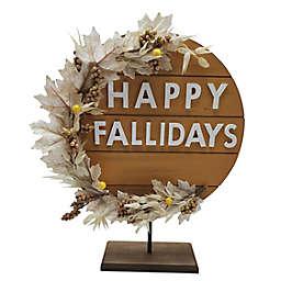"Bee & Willow™ ""Happy Fallidays"" 19.6-Inch Sign in Orange"