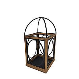 Medium Wooden Porch Lantern in Brown