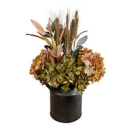 Bee & Willow™ 14-Inch Faux Floral Arrangement with Black Galvanized Pot