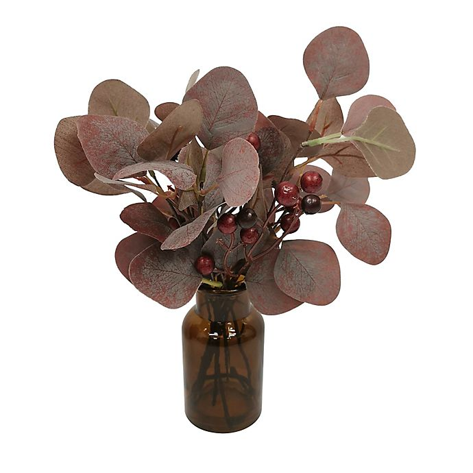 Alternate image 1 for Bee & Willow™ Faux Eucalyptus 9-Inch Floral Arrangement with Glass Jar