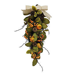 Bee & Willow™ 25-Inch Faux Pear and Pinecone Door Swag<br />