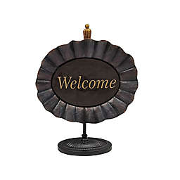 """Bee & Willow™  """"Welcome"""" 16-Inch Iron Sitter Sign Decoration"""