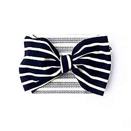 The Mini Prep Size 0-3M Striped Stretch Wrap in Black/White