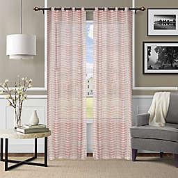 Deco Window®  Grommet Sheer Window Curtain Panels in Red (Set of 2)