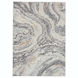 Vibe by Jaipur Living Ferris Gatlin 5' x 7'6 Area Rug in Cream/Grey