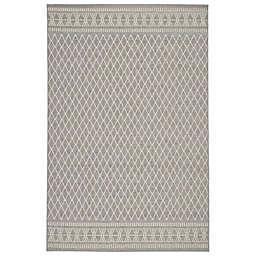 Jaipur Living Marina 7'6 x 9'6 Indoor/Outdoor Area Rug in Light Grey/Cream