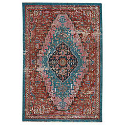 Vibe by Jaipur Living Marielle 5' x 7'6 Area Rug in Rust/Teal
