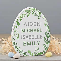 Easter Egg Wooden Indoor Shelf Sitter Decoration in Green
