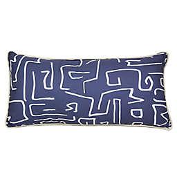 Donna Sharp® Windswept Oblong Throw Pillow in Navy/White