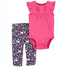 carter's® 2-Piece Unicorn Bodysuit and Pant Set in Pink