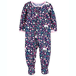 carter's® Unicorn Footed Pajama in Navy