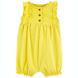 carter's® Flutter-Sleeve Romper in Yellow